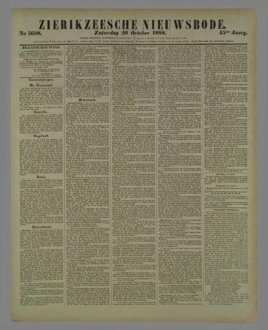 Zierikzeesche Nieuwsbode 1888-10-20