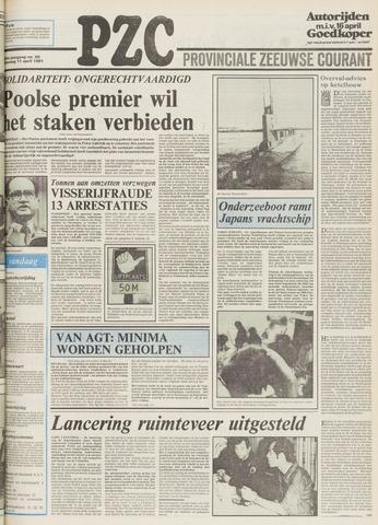 Provinciale Zeeuwse Courant 1981-04-11