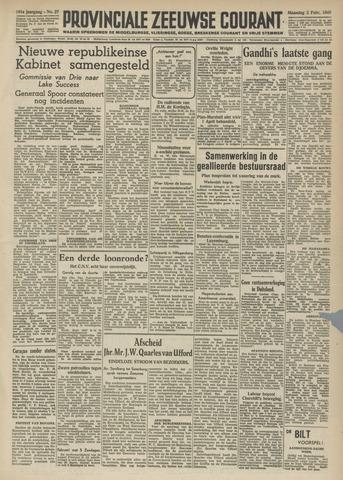 Provinciale Zeeuwse Courant 1948-02-02