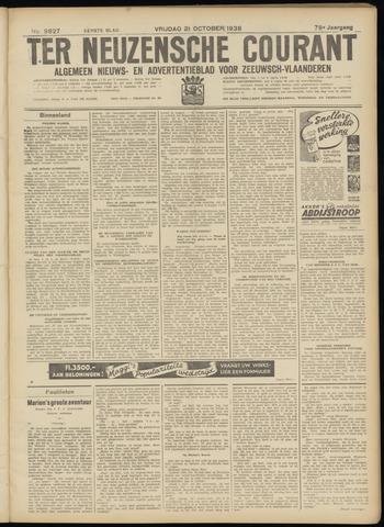 Ter Neuzensche Courant. Algemeen Nieuws- en Advertentieblad voor Zeeuwsch-Vlaanderen / Neuzensche Courant ... (idem) / (Algemeen) nieuws en advertentieblad voor Zeeuwsch-Vlaanderen 1938-10-21