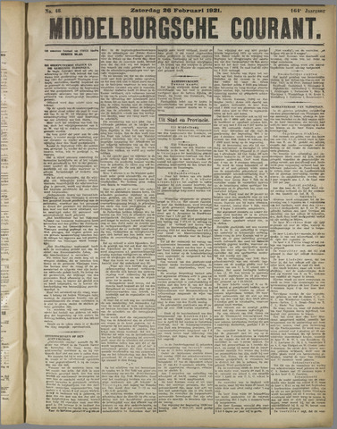 Middelburgsche Courant 1921-02-26