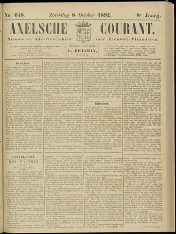 Axelsche Courant 1892-10-08