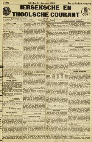 Ierseksche en Thoolsche Courant 1920-08-14