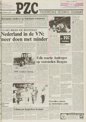 Provinciale Zeeuwse Courant 1983-09-29