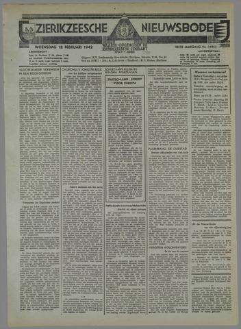 Zierikzeesche Nieuwsbode 1942-02-18