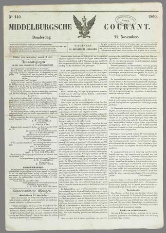 Middelburgsche Courant 1860-11-22