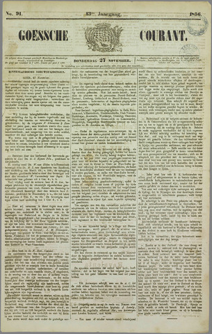 Goessche Courant 1856-11-27