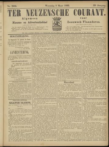 Ter Neuzensche Courant. Algemeen Nieuws- en Advertentieblad voor Zeeuwsch-Vlaanderen / Neuzensche Courant ... (idem) / (Algemeen) nieuws en advertentieblad voor Zeeuwsch-Vlaanderen 1893-03-08