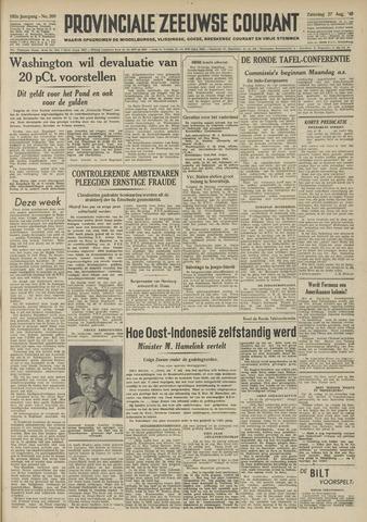 Provinciale Zeeuwse Courant 1949-08-27