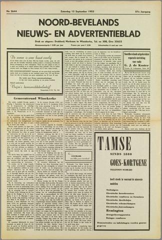 Noord-Bevelands Nieuws- en advertentieblad 1953-09-12