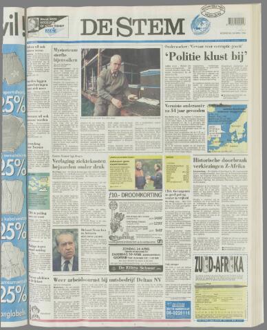de Stem 1994-04-20