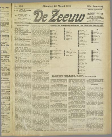De Zeeuw. Christelijk-historisch nieuwsblad voor Zeeland 1919-03-31
