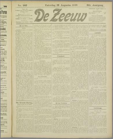 De Zeeuw. Christelijk-historisch nieuwsblad voor Zeeland 1916-08-12