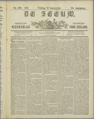 De Zeeuw. Christelijk-historisch nieuwsblad voor Zeeland 1912-09-13