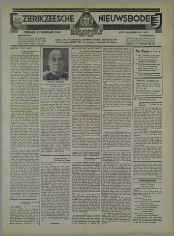 Zierikzeesche Nieuwsbode 1941-02-21