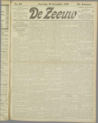 De Zeeuw. Christelijk-historisch nieuwsblad voor Zeeland 1916-12-16