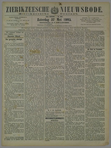 Zierikzeesche Nieuwsbode 1905-05-27
