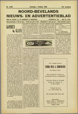 Noord-Bevelands Nieuws- en advertentieblad 1950-10-07