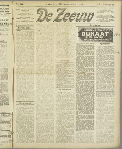 De Zeeuw. Christelijk-historisch nieuwsblad voor Zeeland 1919-11-29