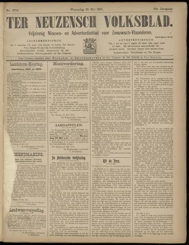 Ter Neuzensch Volksblad. Vrijzinnig nieuws- en advertentieblad voor Zeeuwsch- Vlaanderen / Zeeuwsch Nieuwsblad. Nieuws- en advertentieblad voor Zeeland 1917-05-23