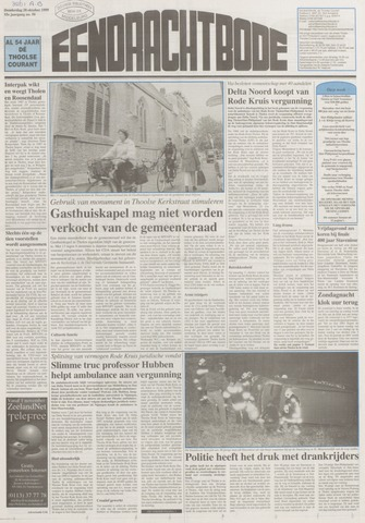 Eendrachtbode (1945-heden)/Mededeelingenblad voor het eiland Tholen (1944/45) 1999-10-28
