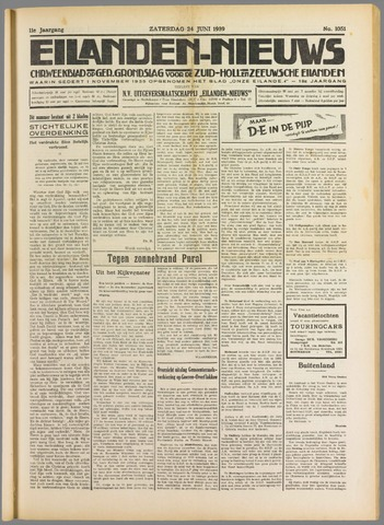 Eilanden-nieuws. Christelijk streekblad op gereformeerde grondslag 1939-06-24