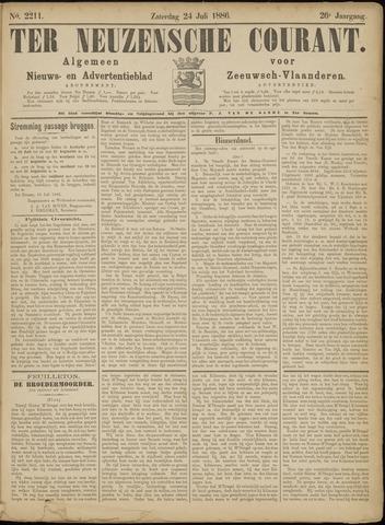 Ter Neuzensche Courant. Algemeen Nieuws- en Advertentieblad voor Zeeuwsch-Vlaanderen / Neuzensche Courant ... (idem) / (Algemeen) nieuws en advertentieblad voor Zeeuwsch-Vlaanderen 1886-07-24