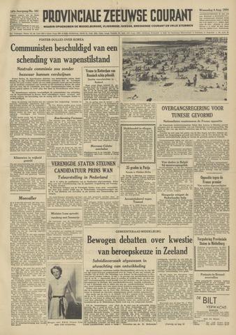 Provinciale Zeeuwse Courant 1954-08-04