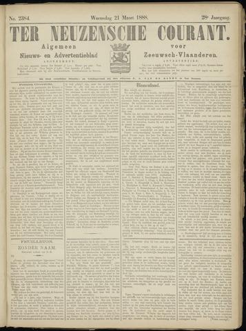 Ter Neuzensche Courant. Algemeen Nieuws- en Advertentieblad voor Zeeuwsch-Vlaanderen / Neuzensche Courant ... (idem) / (Algemeen) nieuws en advertentieblad voor Zeeuwsch-Vlaanderen 1888-03-21