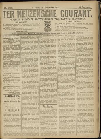 Ter Neuzensche Courant. Algemeen Nieuws- en Advertentieblad voor Zeeuwsch-Vlaanderen / Neuzensche Courant ... (idem) / (Algemeen) nieuws en advertentieblad voor Zeeuwsch-Vlaanderen 1915-11-20
