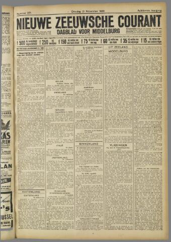 Nieuwe Zeeuwsche Courant 1922-11-21