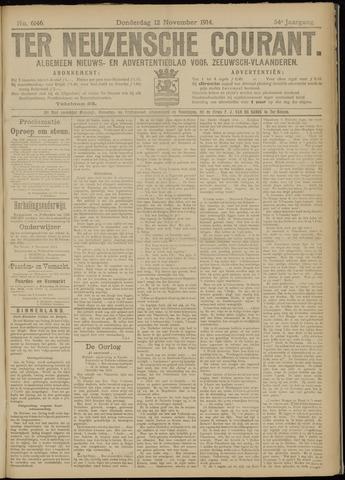 Ter Neuzensche Courant. Algemeen Nieuws- en Advertentieblad voor Zeeuwsch-Vlaanderen / Neuzensche Courant ... (idem) / (Algemeen) nieuws en advertentieblad voor Zeeuwsch-Vlaanderen 1914-11-12