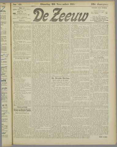 De Zeeuw. Christelijk-historisch nieuwsblad voor Zeeland 1917-11-20