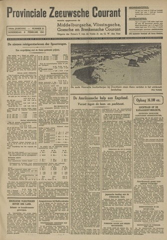 Provinciale Zeeuwse Courant 1941-02-06