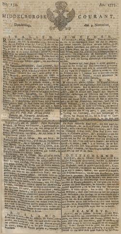 Middelburgsche Courant 1775-11-09
