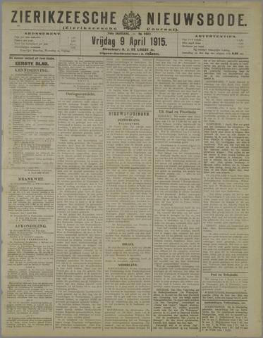 Zierikzeesche Nieuwsbode 1915-04-09