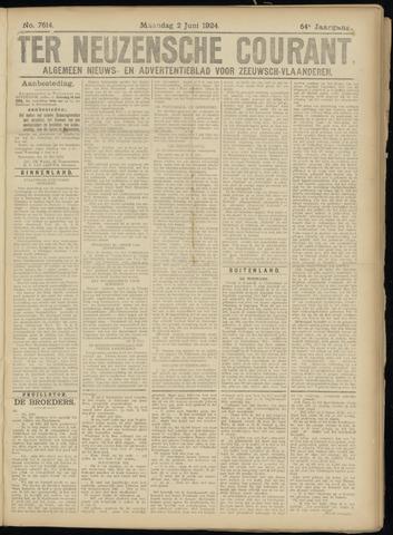 Ter Neuzensche Courant. Algemeen Nieuws- en Advertentieblad voor Zeeuwsch-Vlaanderen / Neuzensche Courant ... (idem) / (Algemeen) nieuws en advertentieblad voor Zeeuwsch-Vlaanderen 1924-06-02