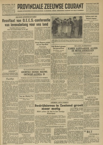 Provinciale Zeeuwse Courant 1951-04-05