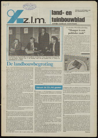 Zeeuwsch landbouwblad ... ZLM land- en tuinbouwblad 1981-09-18