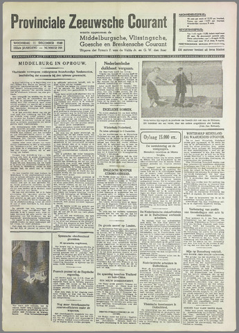 Provinciale Zeeuwse Courant 1940-12-11