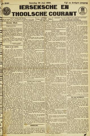 Ierseksche en Thoolsche Courant 1920-06-26