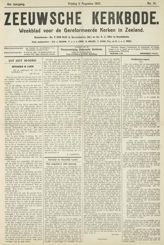 Zeeuwsche kerkbode, weekblad gewijd aan de belangen der gereformeerde kerken/ Zeeuwsch kerkblad 1927-08-05