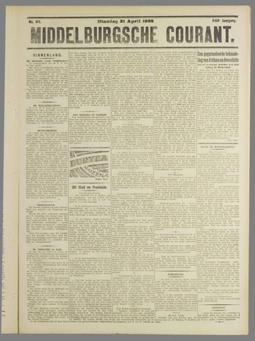 Middelburgsche Courant 1925-04-21