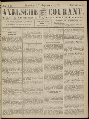 Axelsche Courant 1918-08-10