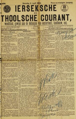 Ierseksche en Thoolsche Courant 1905-04-09