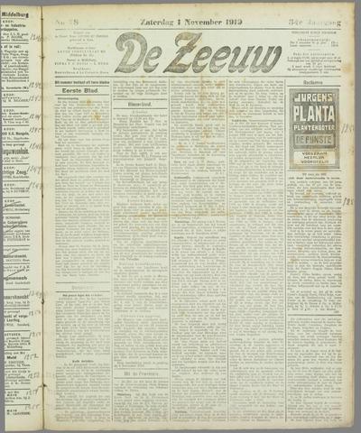 De Zeeuw. Christelijk-historisch nieuwsblad voor Zeeland 1919-11-01