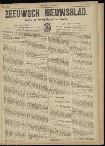 Ter Neuzensch Volksblad. Vrijzinnig nieuws- en advertentieblad voor Zeeuwsch- Vlaanderen / Zeeuwsch Nieuwsblad. Nieuws- en advertentieblad voor Zeeland 1918-07-06