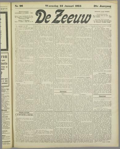 De Zeeuw. Christelijk-historisch nieuwsblad voor Zeeland 1924-01-23