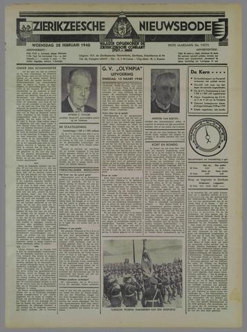 Zierikzeesche Nieuwsbode 1940-02-28