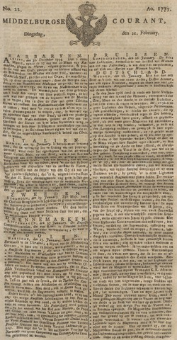 Middelburgsche Courant 1775-02-21